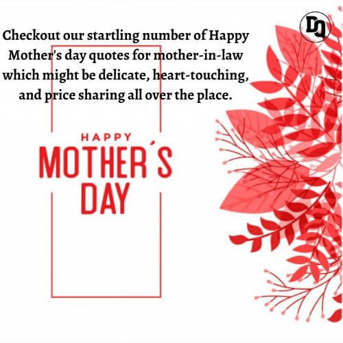 Happy Mothers Day 2020 Quotes for Mother-in-Law